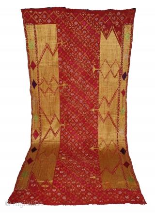 Sarpallu Phulkari from East(Punjab)India called As Sarpallu. Rare Design.Extremely Fine Phulkari.(DSC01480New).