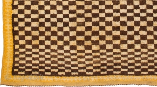 TM 1966, rare Ait Ouaouzguite checkerboard rug, Jebel Siroua region, southern Morocco, mid 20th century, 195 x 150 cm (6' 6'' x 5'), (very) good condition. 