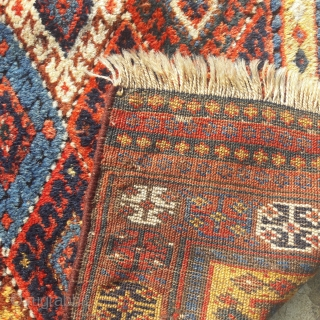 Large antique Jaf bag-face, thick lustrous pile.