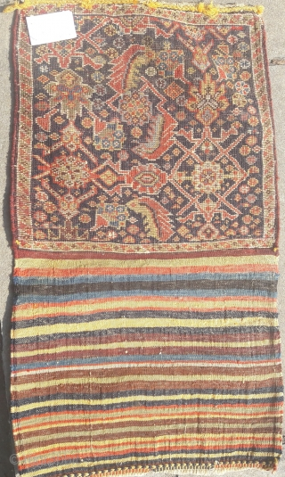 Late 19th century Quashgai bag, great condition, great colours, great design Piled area 16in by 15in