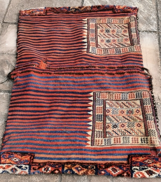 Complete Baktiari/Luri tribal khorjin, great condition, good colours 52in by 37in