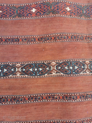 Antique Turcomen chuval (Yomut?)in great condition, good colours 42in by 32in