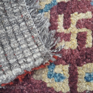 Antique Wangden seating rug. Good colours, good condition