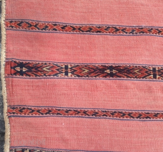Pair of fine Tekke ak-chuvals, late 19th century Original condition, some storage staining to plain-weave backs Each 46in by 30in