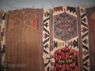 Aydinli Kilim fragment...West Anatolia...c.1840...all vegetal dyes 