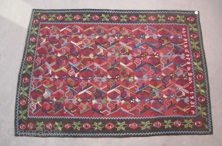 "Armenian kilim....dated and inscribed 1931....excellent condition....6'8"" x 8'2""