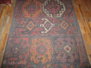 """Reed Screen...Kurdistan ....circa 1900 ...vegetal dyes...wood slates , wool and black goat hair....5'4"""" x 18'5""""....complete and in good condition ( needs a good wash )"""