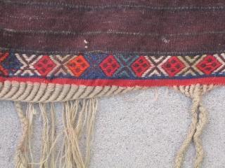 "Kurdish Tulu fragment....Southeastern Anatolia.....4'3"" x 5'5"" ( 130cm x 165cm) ...circa 1900...all wool with mostly aniline dyes"