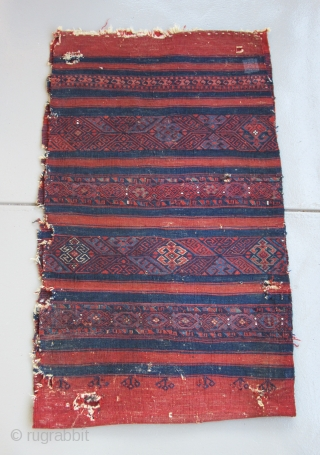 "Northwest Anatolian Cuval...Yuncu tribal group...19th C....condition as found and shown.....30""x 50"" (75cm x 127cm )"