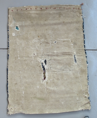 "Central Anatolian Cuval ( flour sack )...Sivas ?.....circa 1850.....28"" x 40""  (70cm x 100cm )...condition as found and shown."