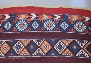 Southeast Anatolian Kurdish kilim.....before 1865.....excellent condition....
