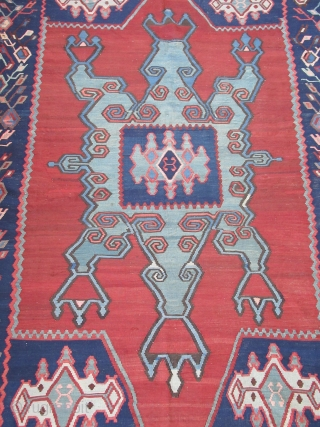 "Armenian kilim...Karabagh /Northeast Anatolia....5'6"" x 8'3"" (170 x 250 cm) ....circa 1900....all wool...very tight weave & excellent condition as shown....mostly vegetal /some analine dyes."
