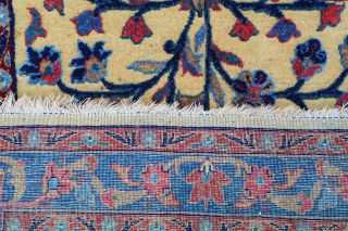 #61266 Antique Kashan Kork, embossed (Barjesteh) 37x23 inches