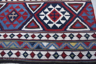 Antique Cauacasian kilim  good condition.  4.8x9.3 or 142x282 cm. 