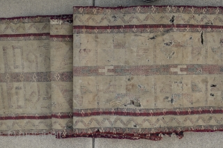 Turkman. Tribe? wool & silk? circa? Fragments. I can provide a video showing all the piece. 