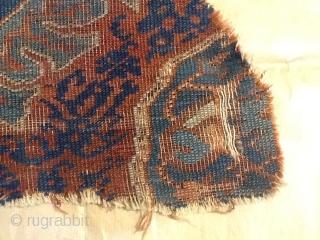 Ushak fragment,part of medalion, size cm 80x40 abaut ,age end of. XVII century.