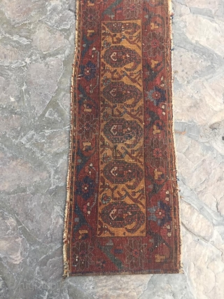 Antique Afshar mafrash panel. 1ft4in x 3ft 9in or 41 x 116cm. Great boteh drawings and full pile condition. Deep rich colors in this piece.  There are two very small moth spots which  ...