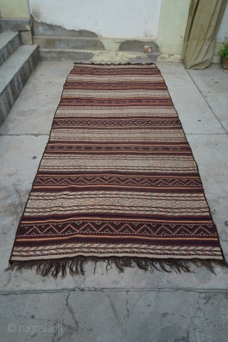 Afghan Tartari Kilim, Uzbek design. Tight weaving and unique design. Purchased in Afghanistan.