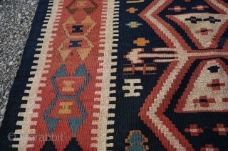 Antique Armenian Caucasian Kilim. Incredible tight weave and great colors. It's from a rare group of kilims.  Sourced from a village near Tusheti, Georgia. Let me know if you need more info and  ...