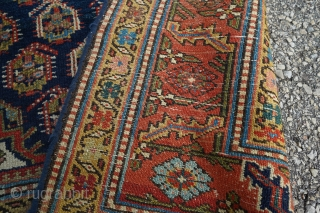 Antique Caucasian runner with boteh pattern. Such great colors and dyes!!  16ft 1in x 40-43in