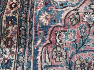 Glorious Khorassan rug, 430x307cm, low pile areas but still in good shape