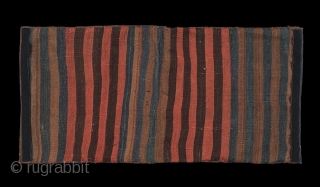 Kagizman Saddle Bag North Eastern Anatolia 1870 - 1880.  All wool reciprocal brocading , dimensions 18 1/2 x 38 inches (47 x 96 cm). This heybe is in excellent condition : no stains, no  ...