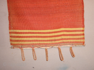 wonderful fine antique complete Qhashqay bag, with fine red woollen weft and complete closing sysytem, original kelim back, great even pile, great natural colors,no stains, no holes the whole measures 55x110cm 1.8x3.7ft