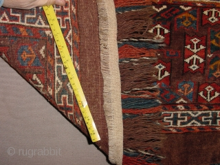 great condition, antique , full pile, natural colors 90x39cm 3x3.1ft without fringes