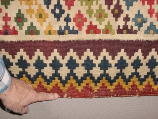 Wonderful antique QASHQAY KILIM  all fabulous natural colors, one very small repair, no stainbs, no fading at all, simply gorgeous, see also my eBaypages