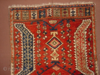 central anatolian ca 1880 full pile, konya. yastic, 63x99cm at its widest,  2.1x3.3ft , no repairs