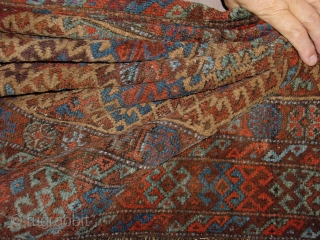 99x171cm 3.3x5.7ft In wonderful Original condition, east anatolian? or baluch. no repairs!!! Original kelim beards!! and wonderful natural colors