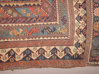 wonderful antique afshar soumack late 19th century summer rug, comparable one one can find in jo thompson tribal rug book no repairs, no stains, Original selvedges and headends, the lighter circle is reflection  ...