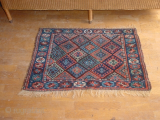 wonderful, mighty large jaff kurd bagface, superbe natural colors, one very tiny hole, no stains 100x73cm  3.3x2.4ft without the fringes