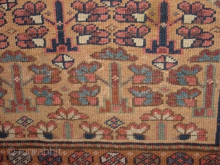 wonderful antique 1880 luri qashqay small square wedding? rug with trees of life or flower field, great natural colors, low pile, all ends professionally secured, clean, flat lying 90x93cm      ...