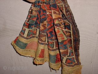 fabulous tribal 1880 antique jaff? bag, witrh some wear and fabulous natural colors
