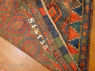 mighty impressive full pile 1880 large jaff kurdish bagface, with great natural colors, one 2bigfingertip professional repair in the walnut centre, very well done, no stains, original headends  great size  117x93cm   ...