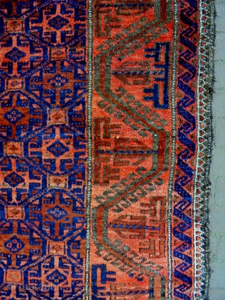Fine Baluch Size: 92x165cm Natural colors, made in period 1910