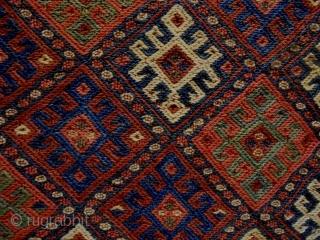 19th Century Soumakh cuwal Size: 70x84cm Natural colors