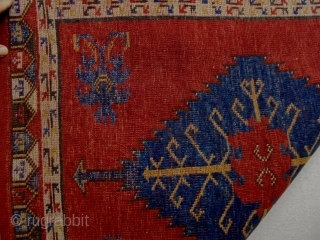 Anatolian Konya Ladik Yastik Size: 59x77cm Natural colors, it s used some years but made from old wool.