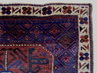 Baluch Bagface Size: 82x62cm Natural colors, made in period 1910