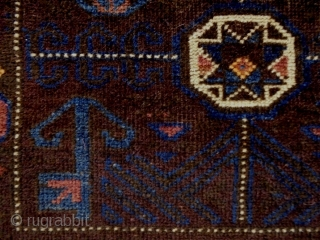 Baluch Bagface Size: 73x60cm Natural colors (except the orange color is faded), made in period 1910/20