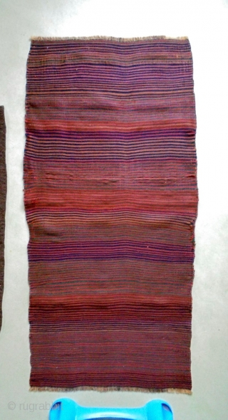 19th Century Two Kurdish Kelim Fragment
