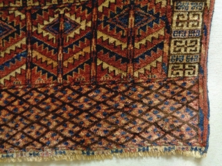 Turkmen Ensi Size: 127x139cm Natural colors, made in circa 1910, there are moth bites at small areas (see picture 10 and 11)