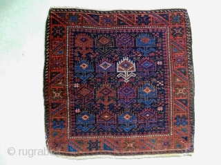 Baluch Bagface Size: 54x53cm Shiny wool, made in period 1910