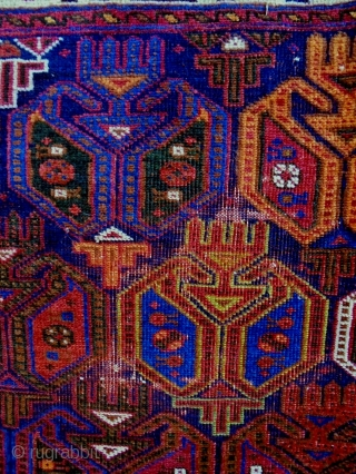 Afshar Bagface Size: 94x65cm Natural colors, made in period 1910