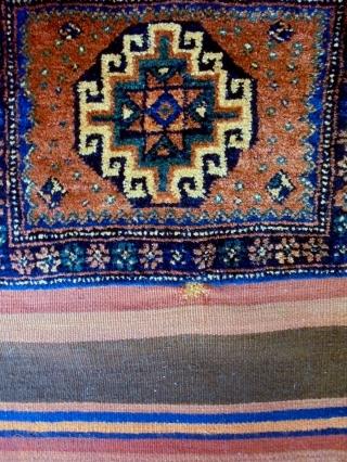 Full Pile Mogan Gul Kurd Bag Complete Size: 72x117cm Natural colors, made in period 1910/20
