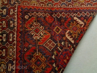 Kurdish Bagface Size: 65x63cm Natural colors (except the red color is probably not natural), made in circa 1910/20