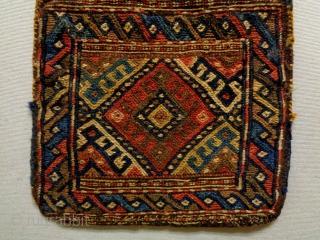 19th Century Soumakh Saltbag Size: 27x42cm Natural colors