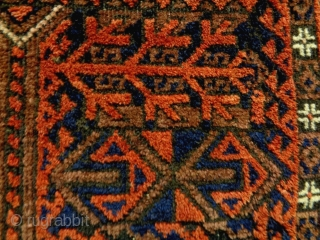 Fine Baluch Size: 100x185cm Natural colors, made in circa 1910/20