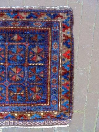19th Century Baluch Bagface Size: 62x57cm Natural colors